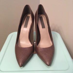 [BCBG] Silver Heal Brown Stilettos